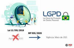Vigência da LGPD foi postergada